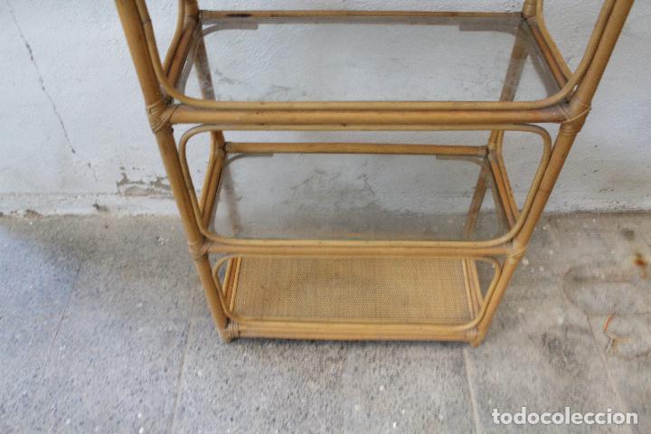 Antigüedades: estanteria mimbre bambu - Foto 10 - 276985283