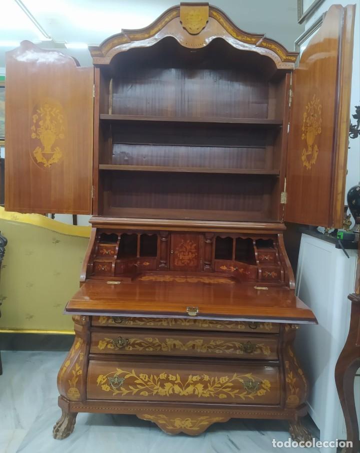 Antigüedades: Mueble marquetería en dos cuerpos - Foto 2 - 276999273
