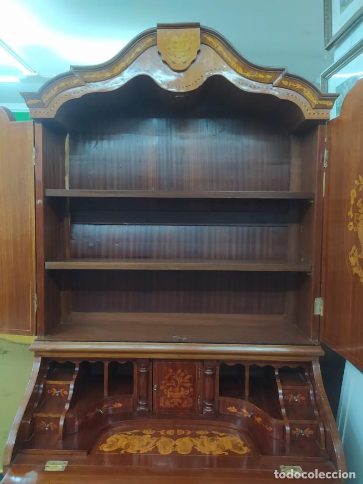 Antigüedades: Mueble marquetería en dos cuerpos - Foto 3 - 276999273