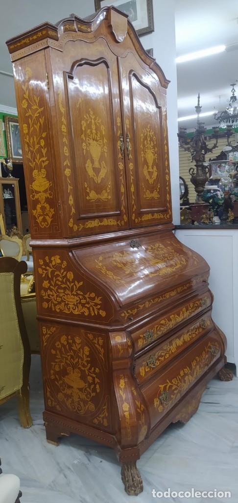 Antigüedades: Mueble marquetería en dos cuerpos - Foto 5 - 276999273