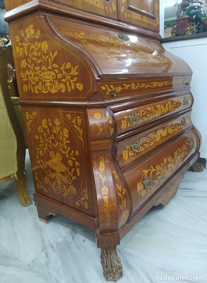 Antigüedades: Mueble marquetería en dos cuerpos - Foto 6 - 276999273