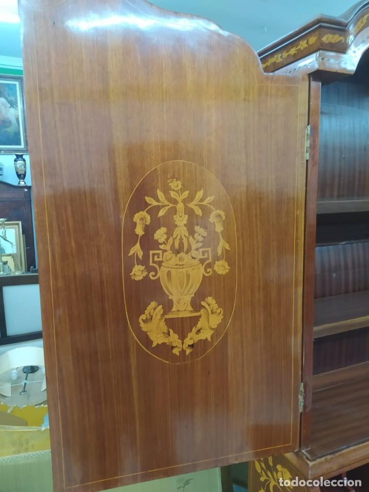 Antigüedades: Mueble marquetería en dos cuerpos - Foto 7 - 276999273