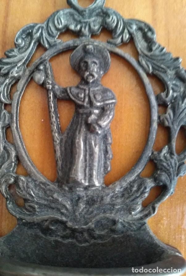 Antigüedades: ANTIGUA Y CURIOSA BENDITERA DEL SANTIAGO APOSTOL - Foto 2 - 276999988