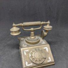 Antigüedades: CAJA TELÉFONO BRONCE 9X7 - CAR211. Lote 277025603