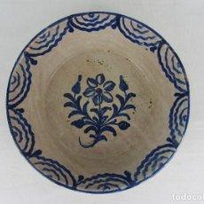 Antigüedades: FUENTE EN CERÁMICA AZUL DE FAJALAUZA, DEL SIGLO XIX. Lote 277032003
