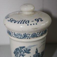 Antigüedades: TARRO DE FARMACIA DE LA CARTUJA DE SEVILLA. HOTEL MELIÁ 92.. Lote 277035908