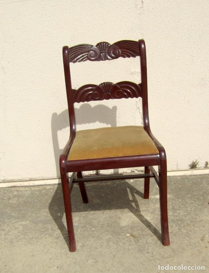 Antigüedades: 6 sillas antiguas en madera tallada - Foto 5 - 277047858