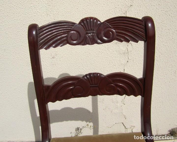Antigüedades: 6 sillas antiguas en madera tallada - Foto 6 - 277047858
