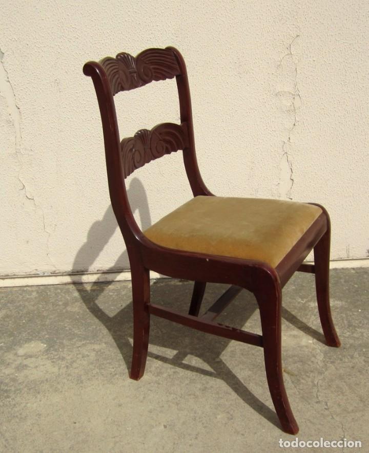 Antigüedades: 6 sillas antiguas en madera tallada - Foto 7 - 277047858