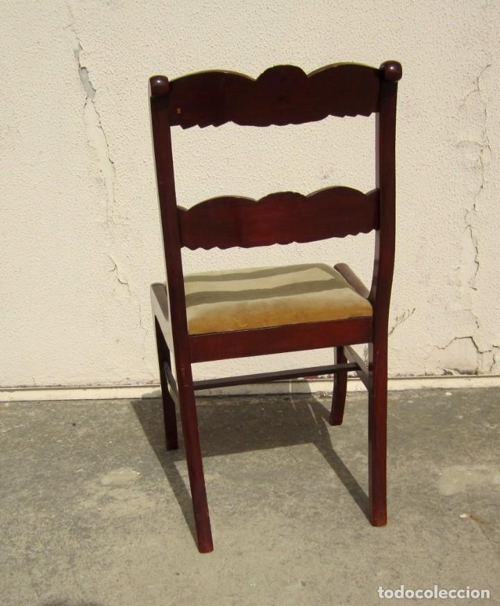 Antigüedades: 6 sillas antiguas en madera tallada - Foto 8 - 277047858