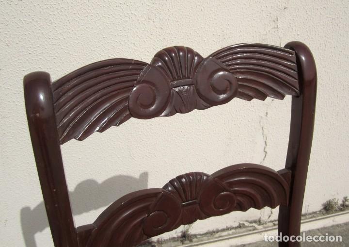 Antigüedades: 6 sillas antiguas en madera tallada - Foto 9 - 277047858