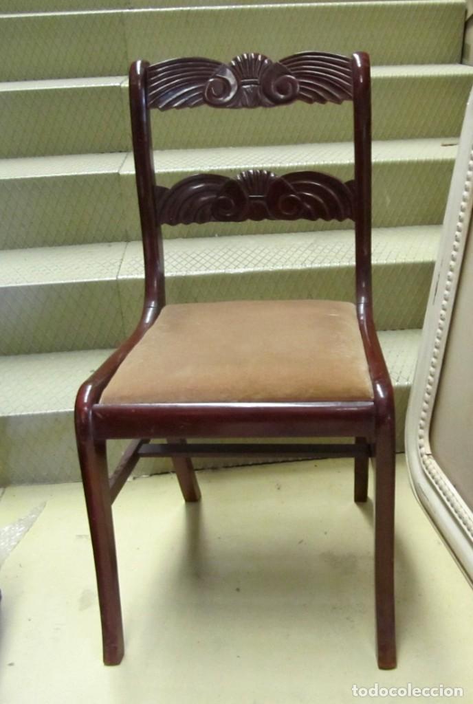 Antigüedades: 6 sillas antiguas en madera tallada - Foto 10 - 277047858