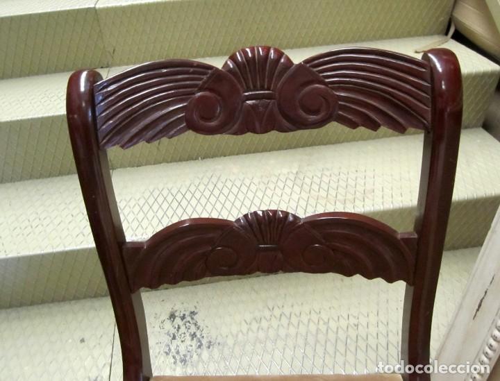 Antigüedades: 6 sillas antiguas en madera tallada - Foto 11 - 277047858