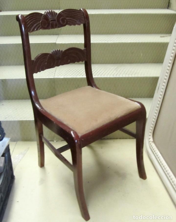 Antigüedades: 6 sillas antiguas en madera tallada - Foto 13 - 277047858