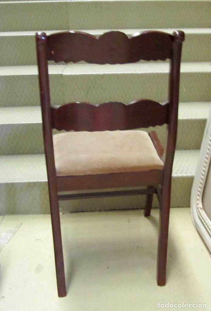Antigüedades: 6 sillas antiguas en madera tallada - Foto 14 - 277047858