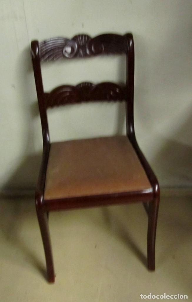 Antigüedades: 6 sillas antiguas en madera tallada - Foto 19 - 277047858