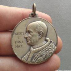 Antigüedades: MEDALLA RELIGIOSA ANTIGUA PAPÁ PABLO VI PAULUS MADRE DEL BUEN COMSEJO. Lote 277076193