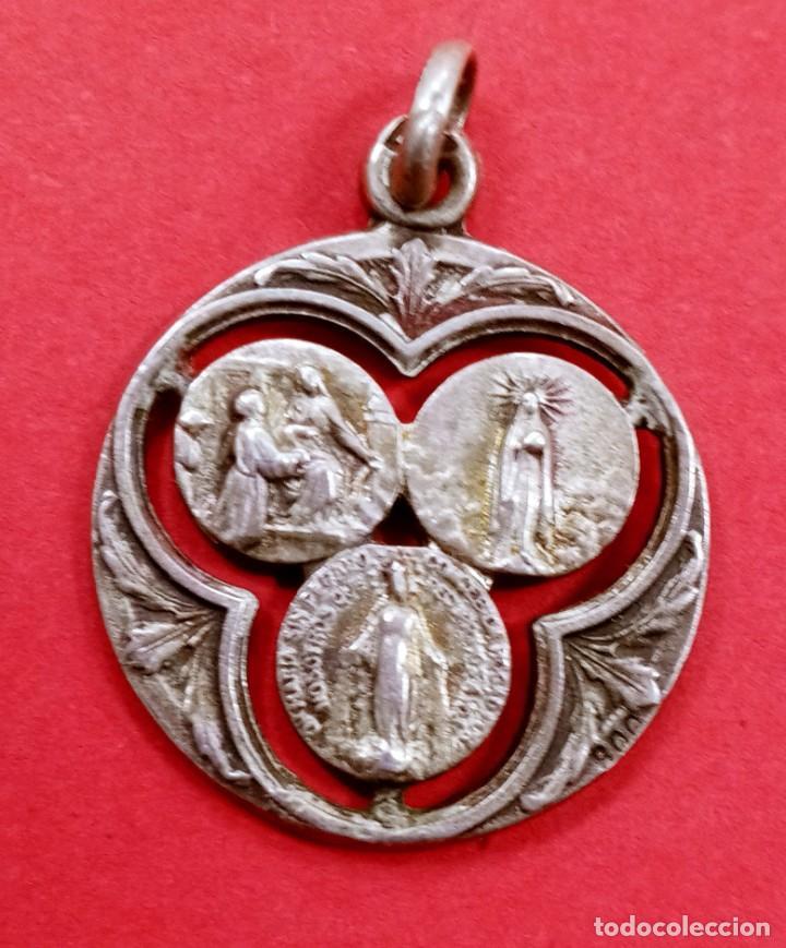 MEDALLA ANTIGUA SAN JOSÉ, SAGRADO CORAZÓN, VIRGEN MILAGROSA... (Antigüedades - Religiosas - Medallas Antiguas)