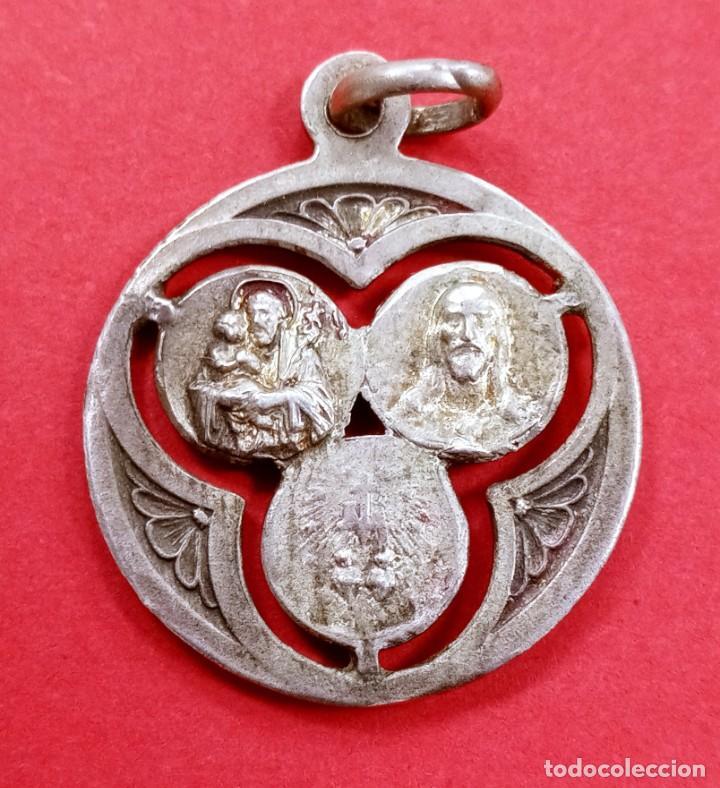 Antigüedades: Medalla Antigua San José, Sagrado Corazón, Virgen Milagrosa... - Foto 2 - 277079123