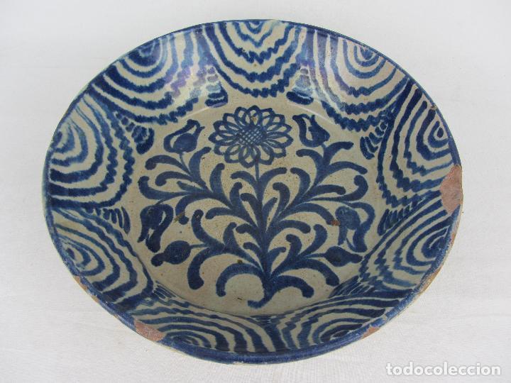 Antigüedades: Fuente en cerámica de Fajalauza del siglo XIX - Foto 4 - 277081163