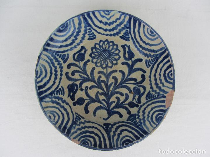 FUENTE EN CERÁMICA DE FAJALAUZA DEL SIGLO XIX (Antigüedades - Porcelanas y Cerámicas - Fajalauza)