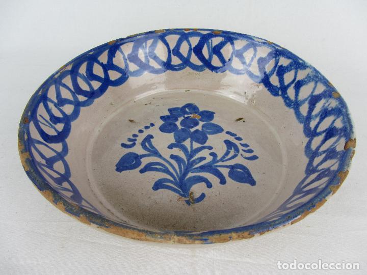Antigüedades: Fuente en cerámica de Fajalauza, del siglo XIX - Foto 3 - 277082763