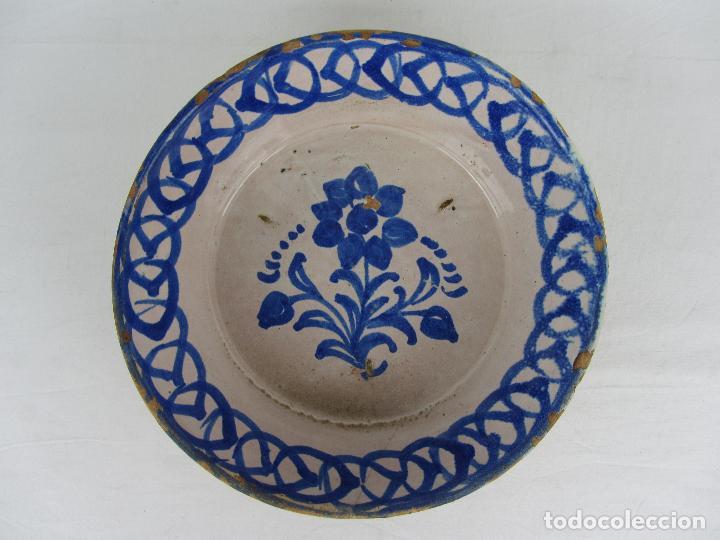 FUENTE EN CERÁMICA DE FAJALAUZA, DEL SIGLO XIX (Antigüedades - Porcelanas y Cerámicas - Fajalauza)