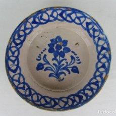 Antigüedades: FUENTE EN CERÁMICA DE FAJALAUZA, DEL SIGLO XIX. Lote 277082763