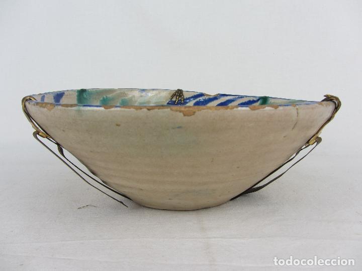 Antigüedades: Cuenco de Fajalauza del siglo XIX, en azul y verde - Foto 4 - 277083793