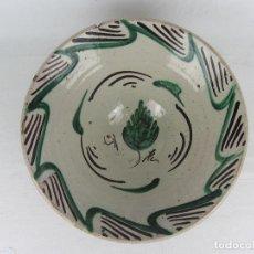 Antigüedades: CUENCO EN CERÁMICA DE TERUEL DEL SIGLO XIX. Lote 277088393