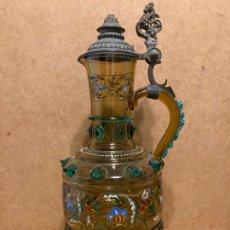 Antigüedades: JARRA ESMALTADA. Lote 277102908