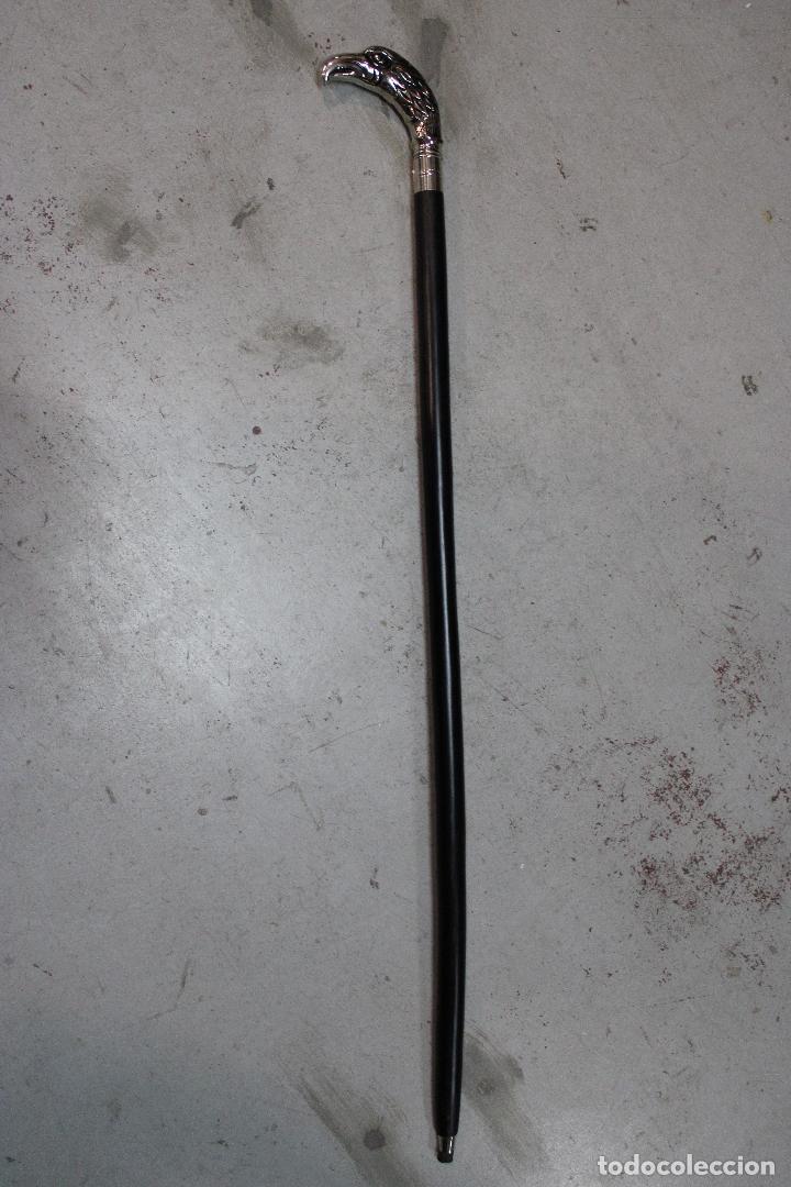 Antigüedades: baston de madera con empuñadura aguila de metal - Foto 3 - 277109403