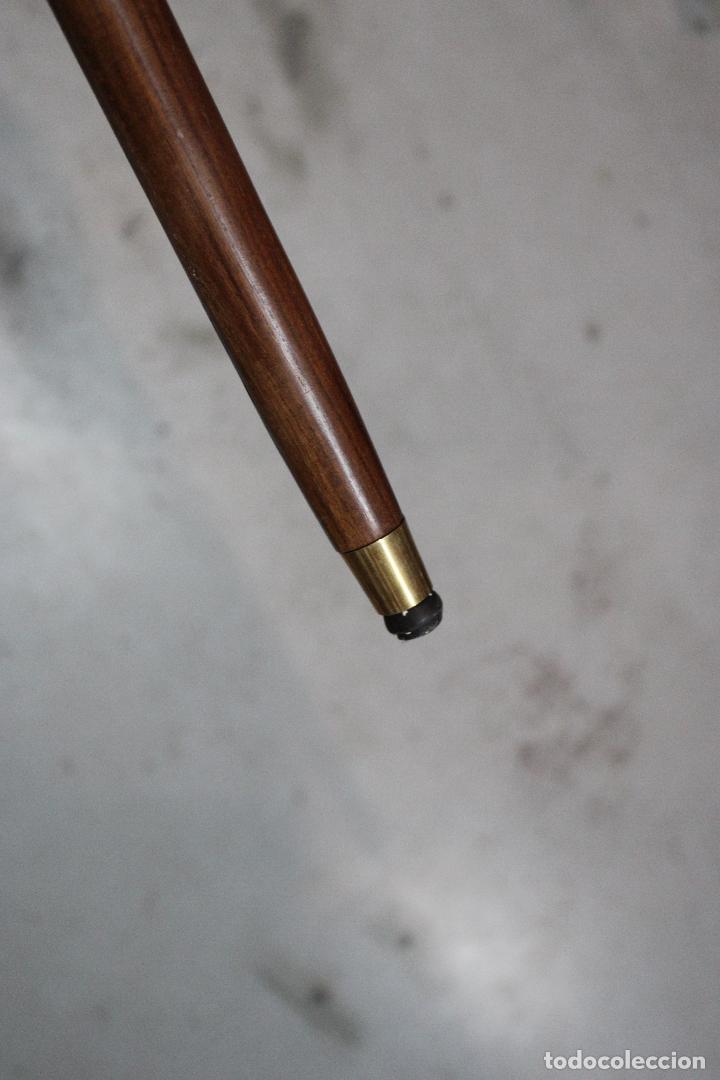 Antigüedades: baston de madera con empuñadura aguila de metal - Foto 3 - 277109543