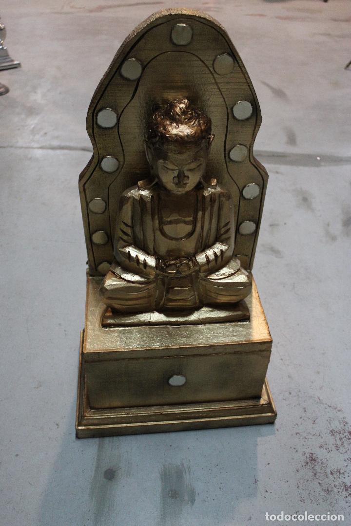 Antigüedades: figura buda de madera - Foto 3 - 277110638