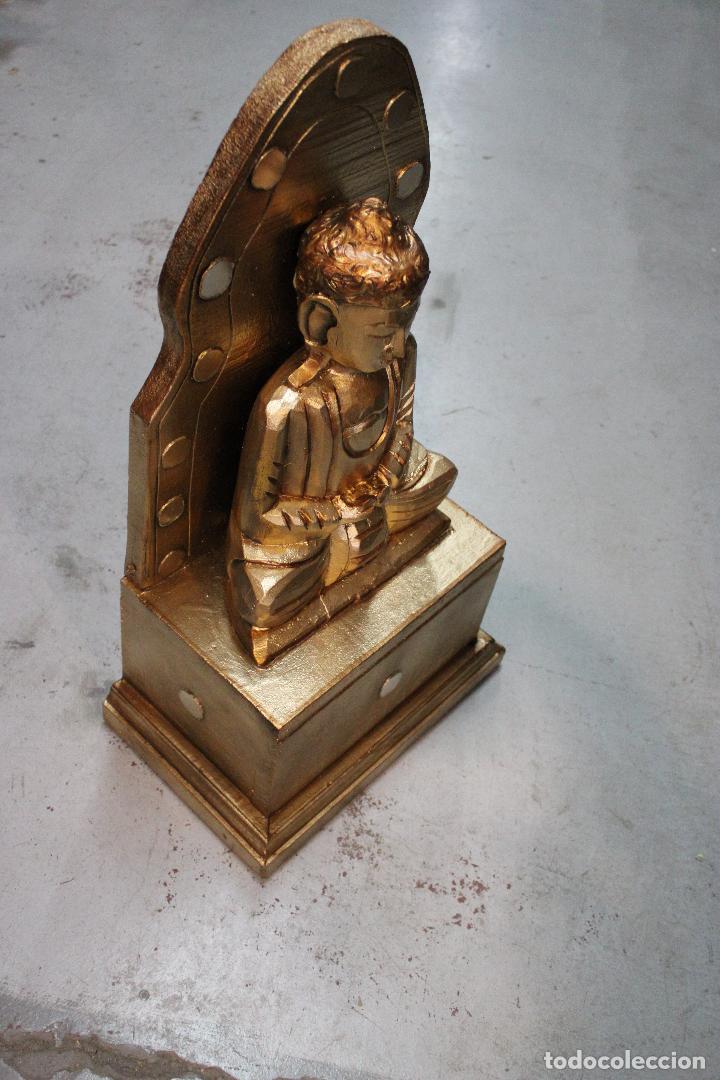 Antigüedades: figura buda de madera - Foto 4 - 277110638