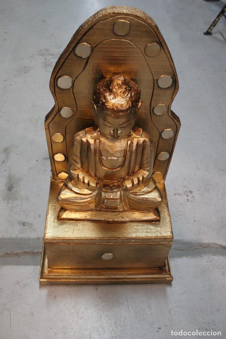 Antigüedades: figura buda de madera - Foto 6 - 277110638