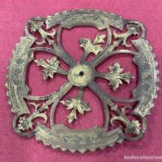 Antigüedades: ANTIGUA CORONA PARA VIRGEN, NIÑO O SANTO, EN METAL DORADO. Lote 277131733