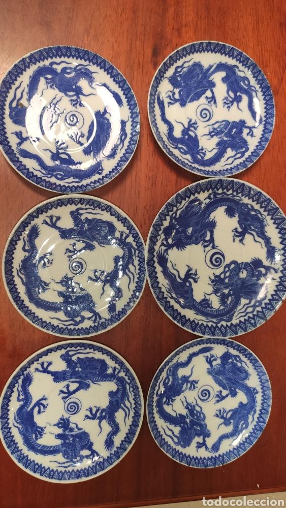 PLATOS JAPONESES DAI NIPPON (6) AÑOS 30 (Antigüedades - Porcelana y Cerámica - Japón)