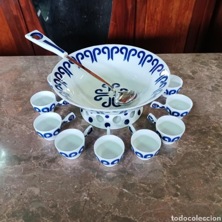 PRECIOSO JUEGO DE QUEIMADA SARGADELOS EN MUY BUEN ESTADO COMPLETO 12 SERVICIOS (Antigüedades - Porcelanas y Cerámicas - Sargadelos)