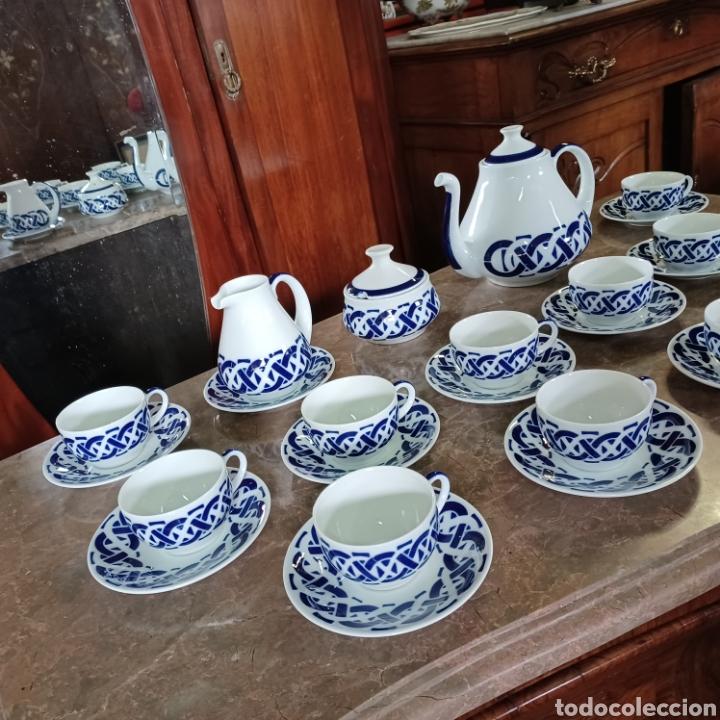 Antigüedades: PRECIOSO JUEGO DE TE / CAFE SARGADELOS PLANTA DO CASTRO COMPLETO DE 12 SERVICIOS AÑOS 80 - Foto 2 - 277140403