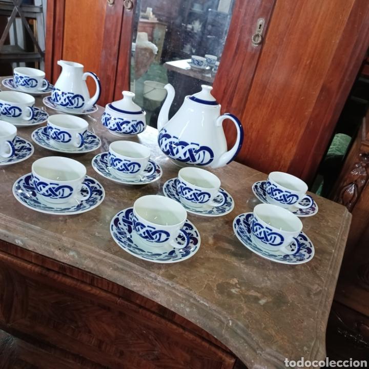Antigüedades: PRECIOSO JUEGO DE TE / CAFE SARGADELOS PLANTA DO CASTRO COMPLETO DE 12 SERVICIOS AÑOS 80 - Foto 3 - 277140403