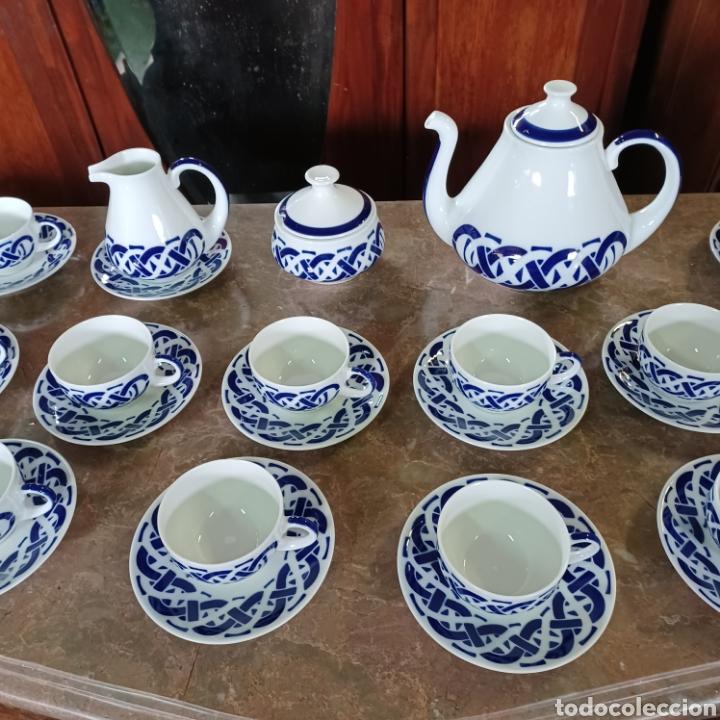 Antigüedades: PRECIOSO JUEGO DE TE / CAFE SARGADELOS PLANTA DO CASTRO COMPLETO DE 12 SERVICIOS AÑOS 80 - Foto 5 - 277140403