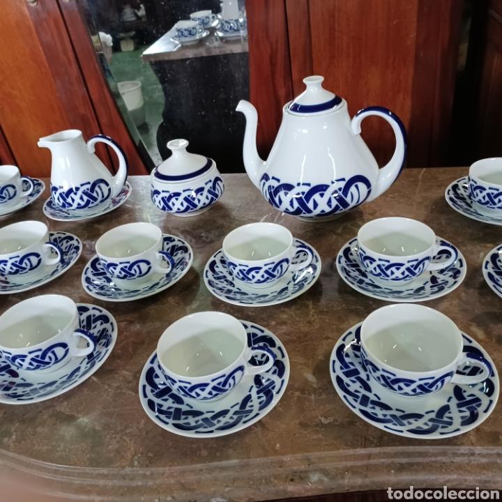 Antigüedades: PRECIOSO JUEGO DE TE / CAFE SARGADELOS PLANTA DO CASTRO COMPLETO DE 12 SERVICIOS AÑOS 80 - Foto 11 - 277140403