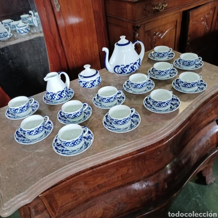 Antigüedades: PRECIOSO JUEGO DE TE / CAFE SARGADELOS PLANTA DO CASTRO COMPLETO DE 12 SERVICIOS AÑOS 80 - Foto 12 - 277140403
