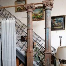 Antigüedades: PARCELA DE COLUMNAS DE MADERA DE TEKA. Lote 277141513