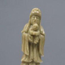 Antigüedades: FIGURA PIEDRA JABONOSA. CHINA. SIGLO XX. Lote 277142193