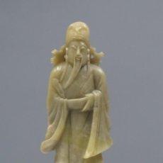 Antigüedades: FIGURA. PIEDRA JABONOSA. CHINA. SIGLO XX. Lote 277142383