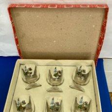Antigüedades: JUEGO DE 6 COPAS DE LA VIRGEN DE FÁTIMA , 1967. Lote 277148673