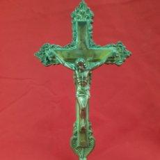 Antigüedades: ANTIGUO CRISTO DE ALTAR EN BRONCE . 26 ×13 CM. Lote 277153048