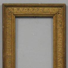 Antigüedades: ANTIGUO MARCO DE MADERA DORADA. SIGLO XIX. Lote 277153708